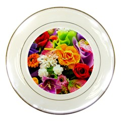 Colorful Flowers Porcelain Plates by BangZart