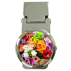 Colorful Flowers Money Clip Watches by BangZart