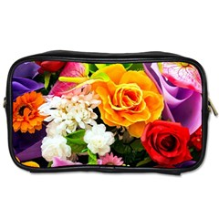 Colorful Flowers Toiletries Bags 2 Side by BangZart