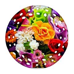 Colorful Flowers Ornament (round Filigree) by BangZart