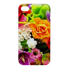 Colorful Flowers Apple Iphone 4/4s Hardshell Case by BangZart
