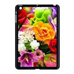 Colorful Flowers Apple Ipad Mini Case (black) by BangZart