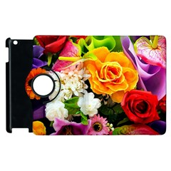 Colorful Flowers Apple Ipad 2 Flip 360 Case by BangZart
