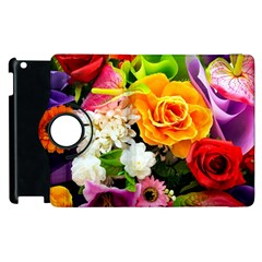 Colorful Flowers Apple Ipad 3/4 Flip 360 Case by BangZart