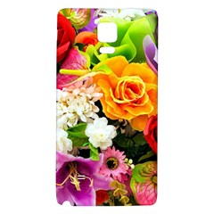 Colorful Flowers Galaxy Note 4 Back Case by BangZart