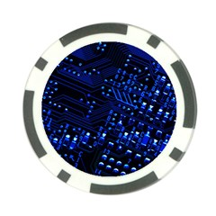 Blue Circuit Technology Image Poker Chip Card Guard (10 Pack) by BangZart