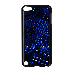 Blue Circuit Technology Image Apple Ipod Touch 5 Case (black) by BangZart