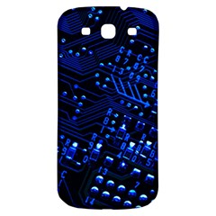 Blue Circuit Technology Image Samsung Galaxy S3 S Iii Classic Hardshell Back Case by BangZart