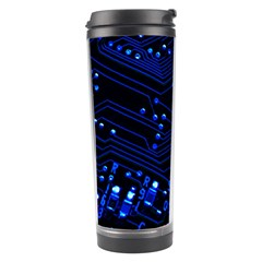 Blue Circuit Technology Image Travel Tumbler by BangZart