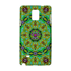 Golden Star Mandala In Fantasy Cartoon Style Samsung Galaxy Note 4 Hardshell Case by pepitasart