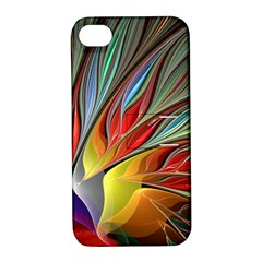 Fractal Bird Of Paradise Apple Iphone 4/4s Hardshell Case With Stand by WolfepawFractals