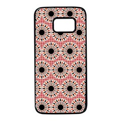 Black Stars Pattern Samsung Galaxy S7 Black Seamless Case by linceazul