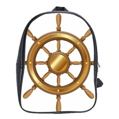 Boat Wheel Transparent Clip Art School Bags(large)  by BangZart