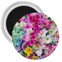 Colorful Flowers Patterns 3  Magnets by BangZart