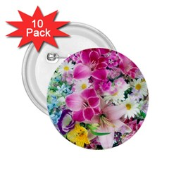 Colorful Flowers Patterns 2 25  Buttons (10 Pack)  by BangZart