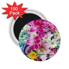 Colorful Flowers Patterns 2 25  Magnets (100 Pack)  by BangZart
