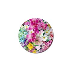Colorful Flowers Patterns Golf Ball Marker (10 Pack)