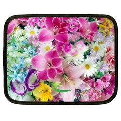 Colorful Flowers Patterns Netbook Case (xl)  by BangZart