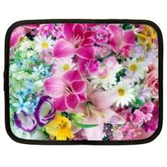 Colorful Flowers Patterns Netbook Case (xxl)  by BangZart