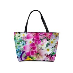 Colorful Flowers Patterns Shoulder Handbags by BangZart