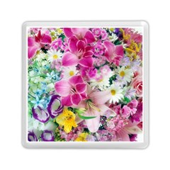 Colorful Flowers Patterns Memory Card Reader (square)  by BangZart