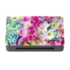 Colorful Flowers Patterns Memory Card Reader With Cf by BangZart