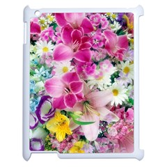 Colorful Flowers Patterns Apple Ipad 2 Case (white) by BangZart