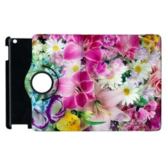 Colorful Flowers Patterns Apple Ipad 2 Flip 360 Case by BangZart