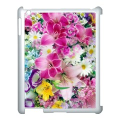 Colorful Flowers Patterns Apple Ipad 3/4 Case (white) by BangZart