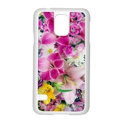 Colorful Flowers Patterns Samsung Galaxy S5 Case (white) by BangZart