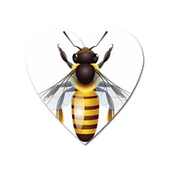 Bee Heart Magnet by BangZart