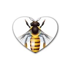Bee Rubber Coaster (heart)  by BangZart