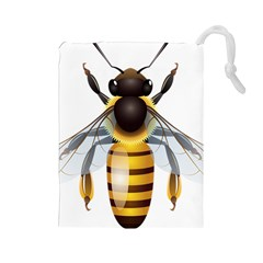 Bee Drawstring Pouches (large)  by BangZart