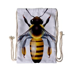 Bee Drawstring Bag (small) by BangZart
