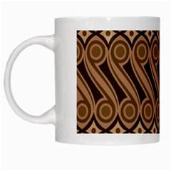 Batik The Traditional Fabric White Mugs by BangZart