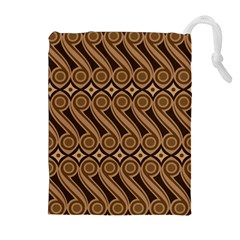 Batik The Traditional Fabric Drawstring Pouches (extra Large) by BangZart