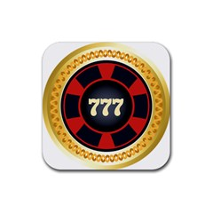 Casino Chip Clip Art Rubber Square Coaster (4 Pack)  by BangZart