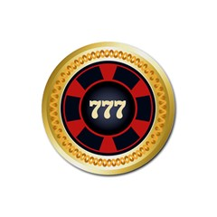 Casino Chip Clip Art Rubber Coaster (round)  by BangZart