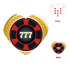 Casino Chip Clip Art Playing Cards (heart)  by BangZart