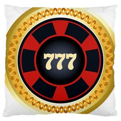 Casino Chip Clip Art Large Cushion Case (two Sides) by BangZart