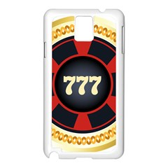 Casino Chip Clip Art Samsung Galaxy Note 3 N9005 Case (white) by BangZart