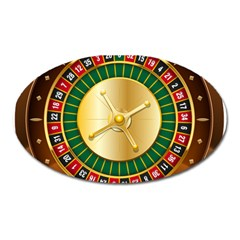 Casino Roulette Clipart Oval Magnet by BangZart