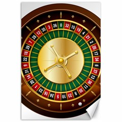 Casino Roulette Clipart Canvas 20  X 30   by BangZart