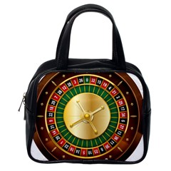 Casino Roulette Clipart Classic Handbags (one Side) by BangZart