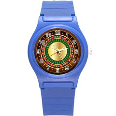 Casino Roulette Clipart Round Plastic Sport Watch (s) by BangZart