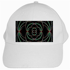 Abstract Spider Web White Cap by BangZart