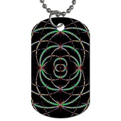 Abstract Spider Web Dog Tag (two Sides) by BangZart