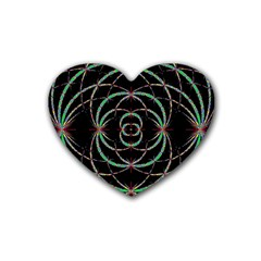 Abstract Spider Web Heart Coaster (4 Pack)  by BangZart