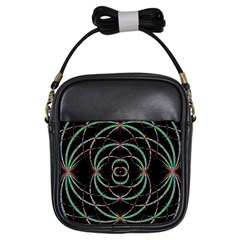 Abstract Spider Web Girls Sling Bags by BangZart
