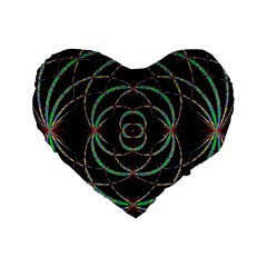 Abstract Spider Web Standard 16  Premium Flano Heart Shape Cushions by BangZart